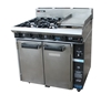 Blue Seal Turbo Fan By Moffatt Combination Of 4 Burner With Grill And Oven