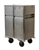 Stainless Steel Food Trolley With Two Doors On Caster Wheels