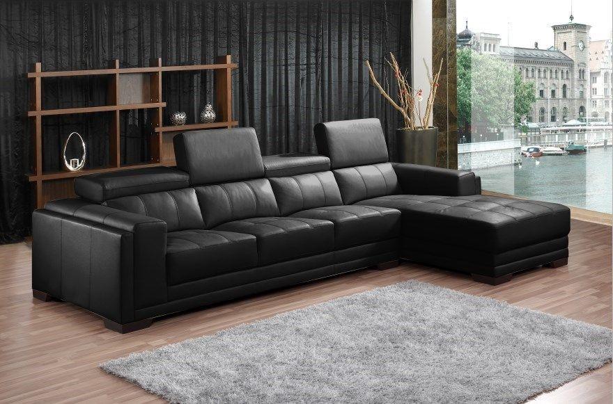 Topia - 4 seater Grand Corner Lounge, Black