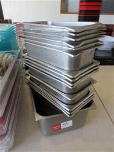 15 x Stainless Steel Tubs