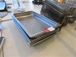 5 x Rectangle Stainless Steel Draining T