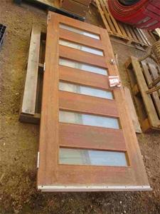 1x Timber Front Door