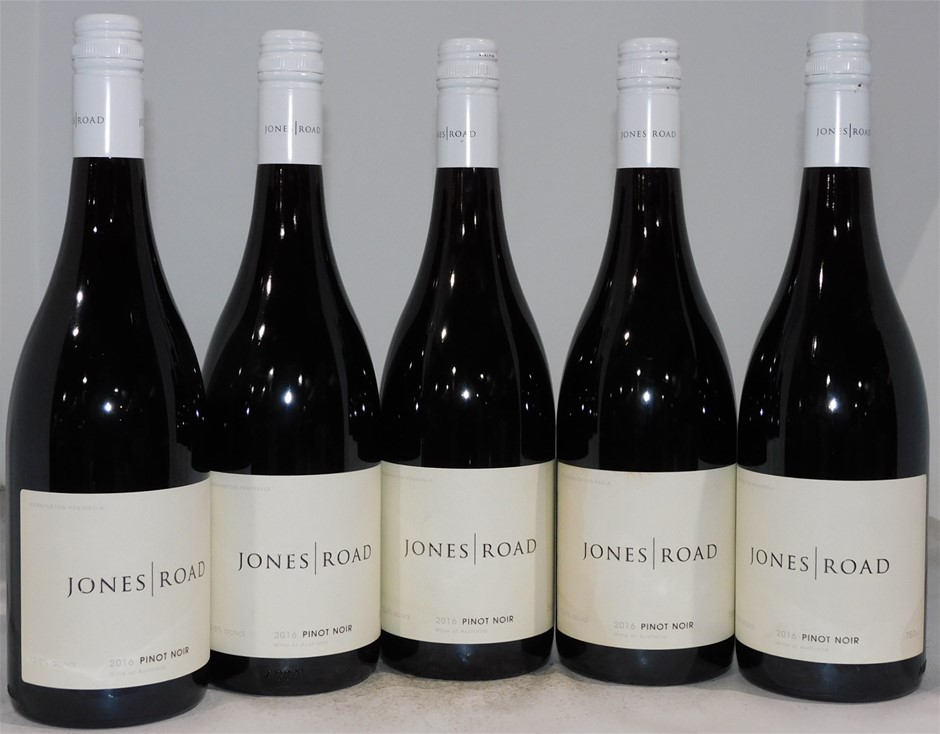 Jones Road Pinot Noir 2016 (5 x 750mL), Mornington Peninsula, VIC