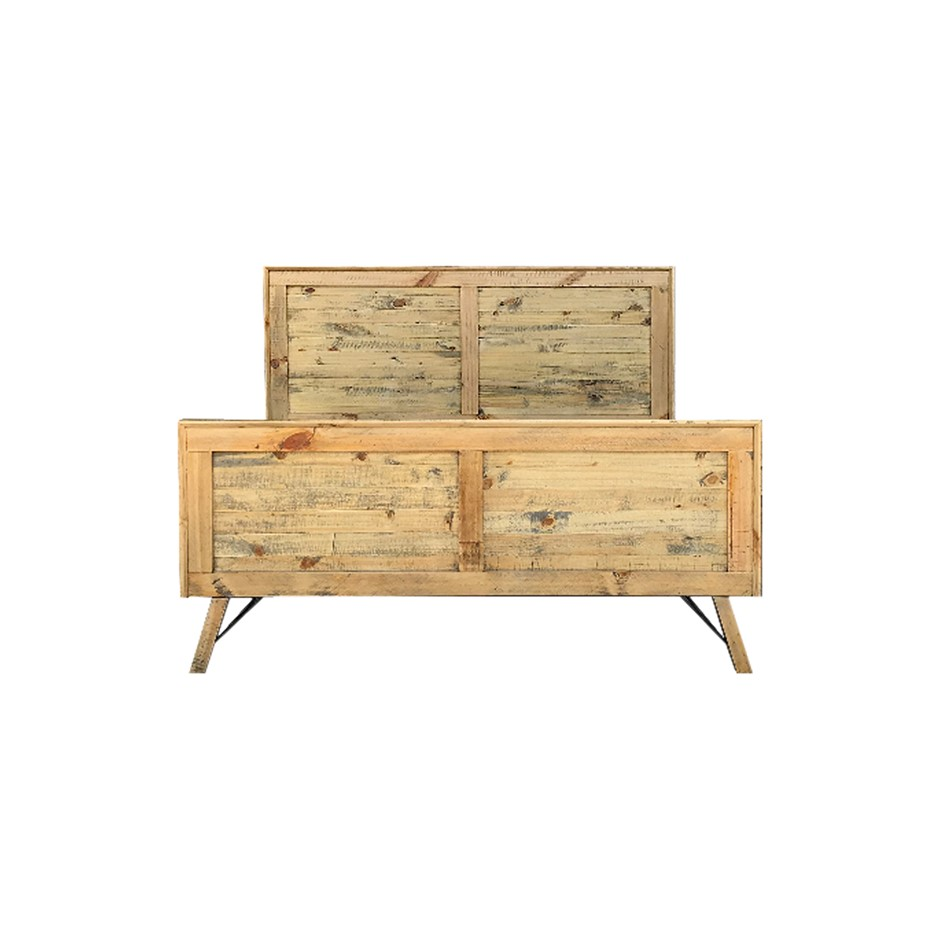 Bondi Bed is a wooden vintage style bed with attractive ozzy colour