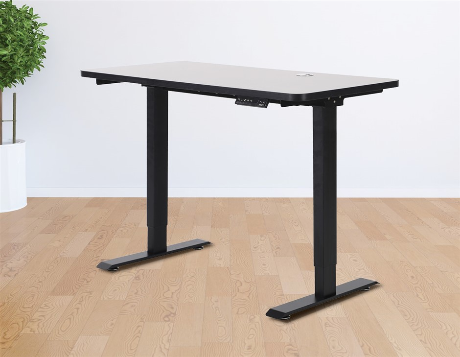 Palermo Standing Desk Sit Stand Height Adjustable Motorised 120cm Table