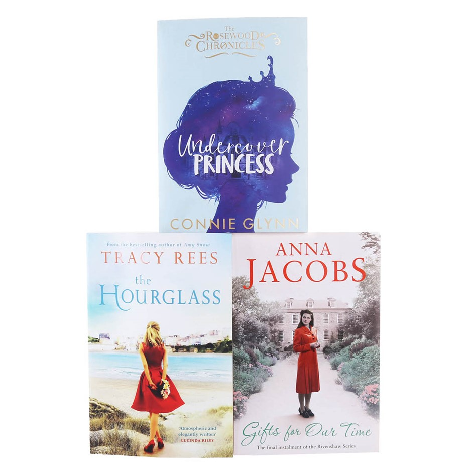 3 x Assorted Books, Includes; THE HOUR GLASS, UNDERCOVER PRINCESS & GIFTS F