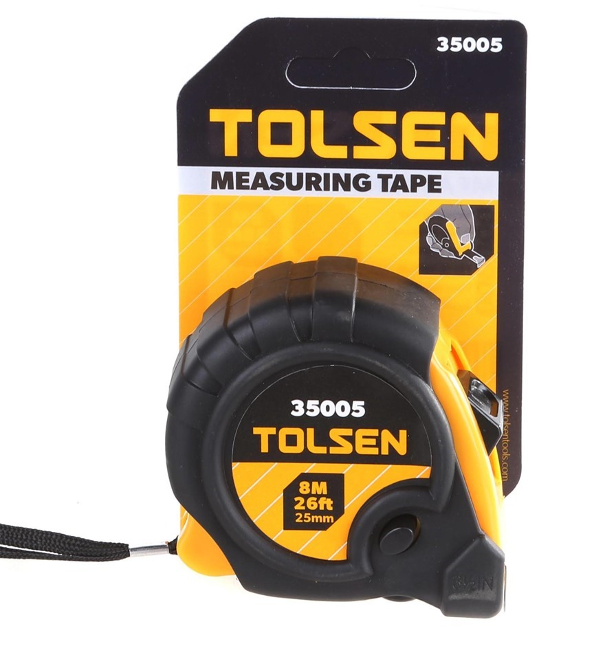 2 x TOLSEN 8M Measuring Tapes with 25mm Metal Combo Tape & Lock. Buyers Not