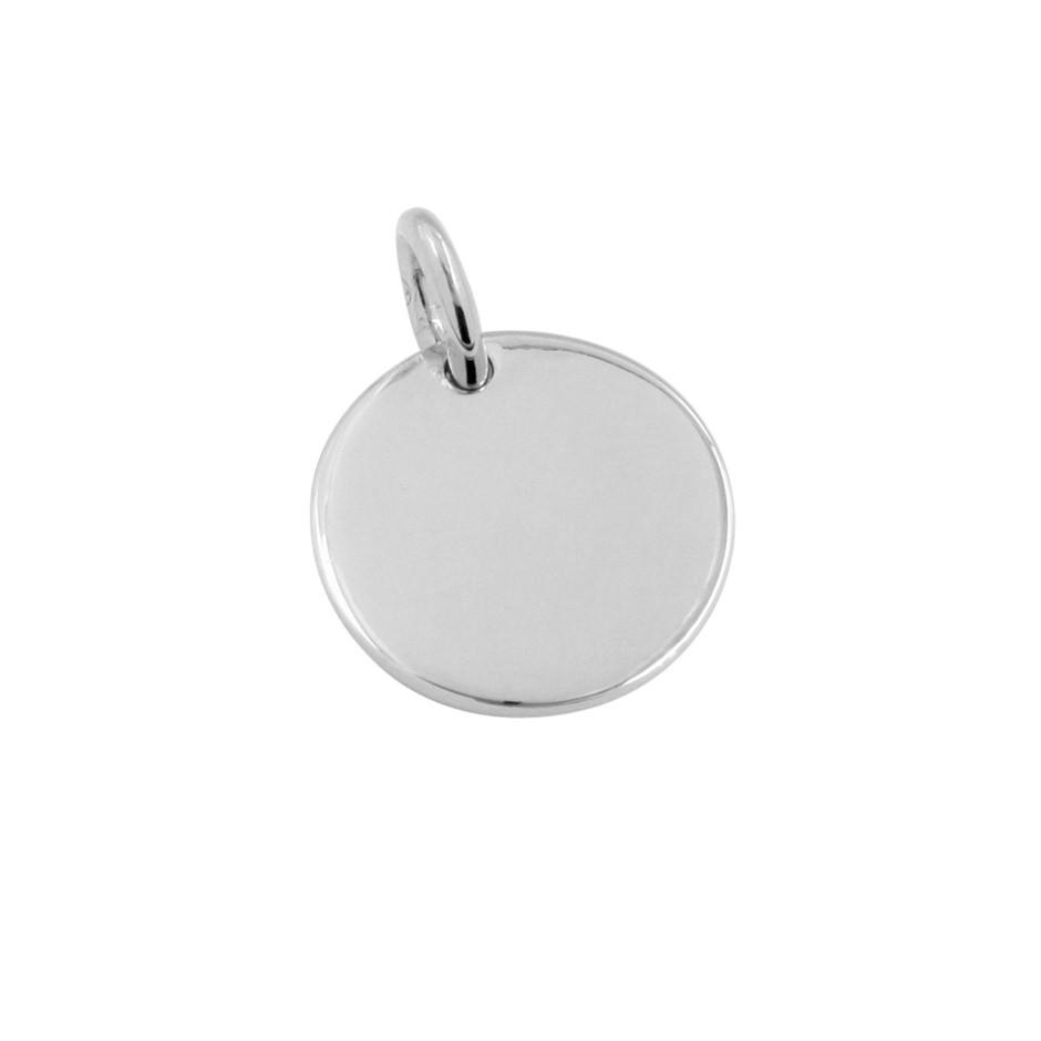 Thomas Sabo Sterling Silver Engravable Plain Coin Pendant.