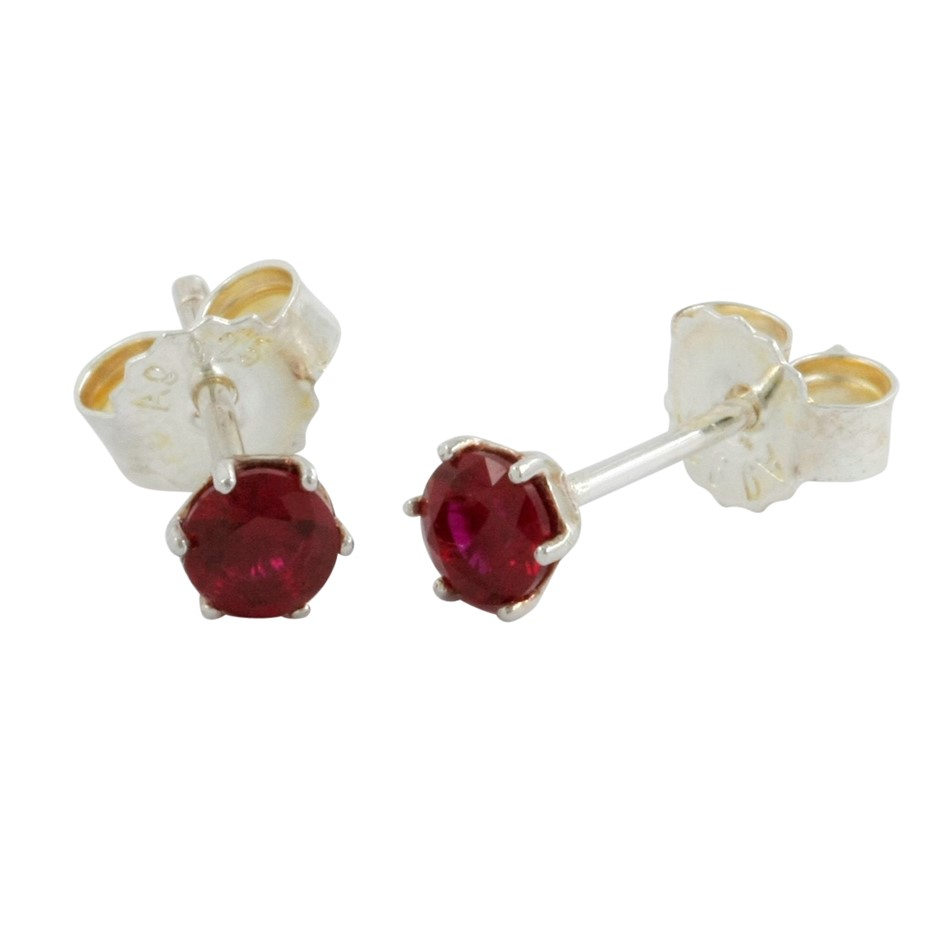 Thomas Sabo Red Corundum Claw Set Stud Earrings.