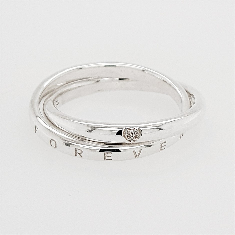 Thomas Sabo Interlocking Heart Diamond Ring.