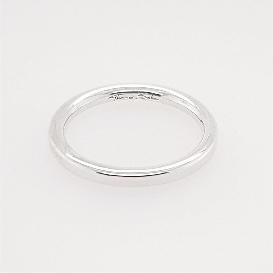 Thomas Sabo Sleek Polished Silver Mini Ring.