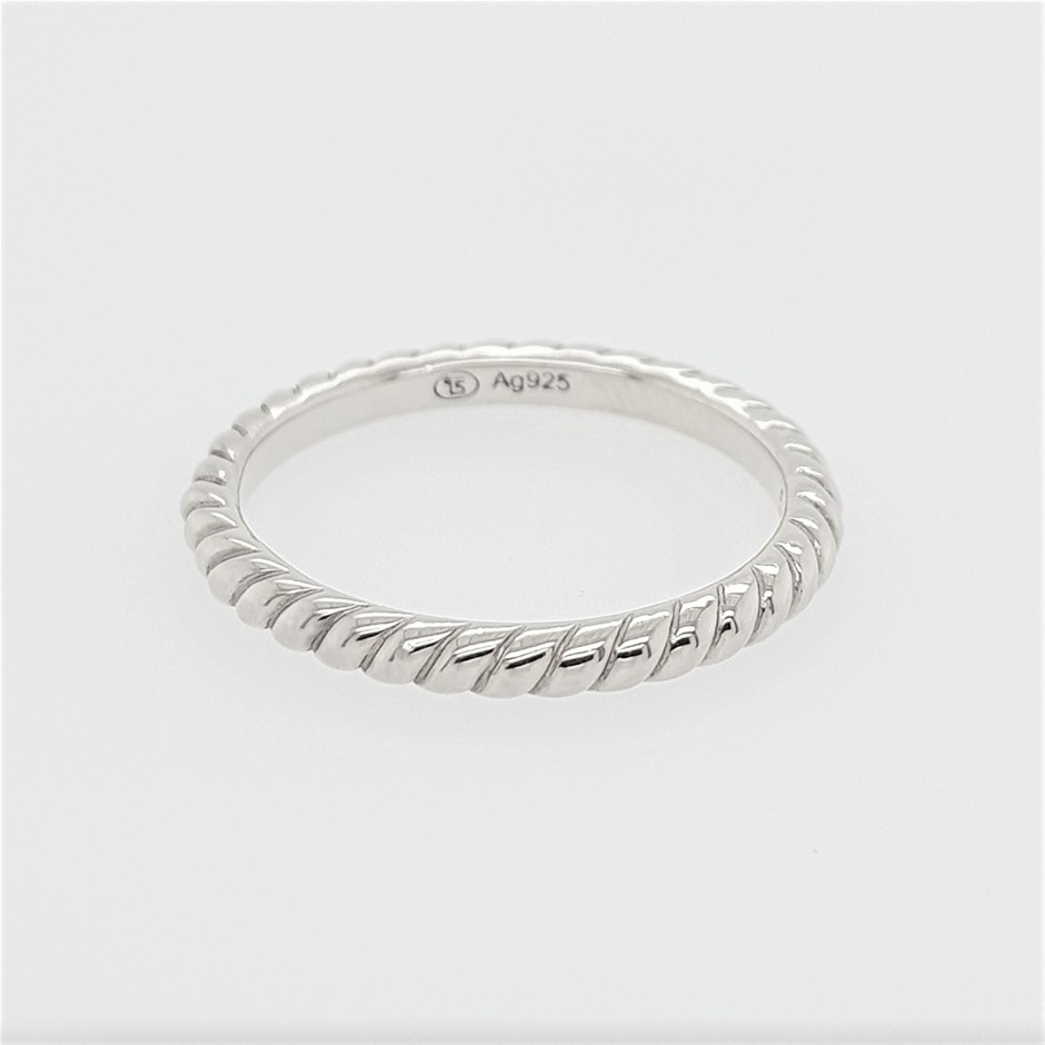 Thomas Sabo Sterling Silver Polished Rope Ring.