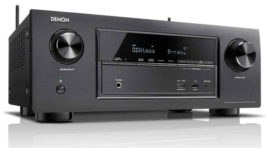 Denon AVR-X2300 7 x 150W Full 4K Ultra HD WiFi A/V Receiver (Black)