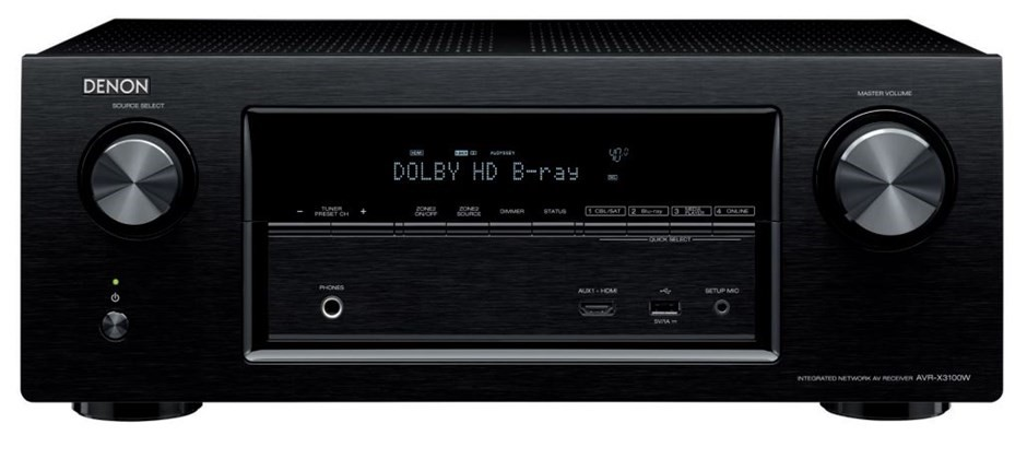 Denon AVR-X3100 7.2CH Integrated Network AV Receiver with Bluetooth (Black)