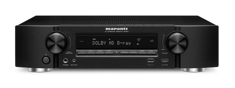 Marantz NR1604 Slim Line 4K Network 7.1 AV Receiver (Black)
