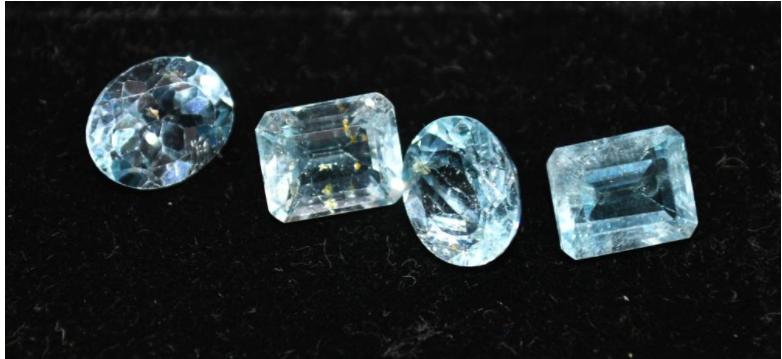 22 carat Blue Topaz Gemstones