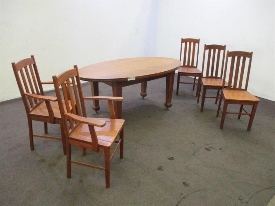 6 Piece Timber Dining Setting