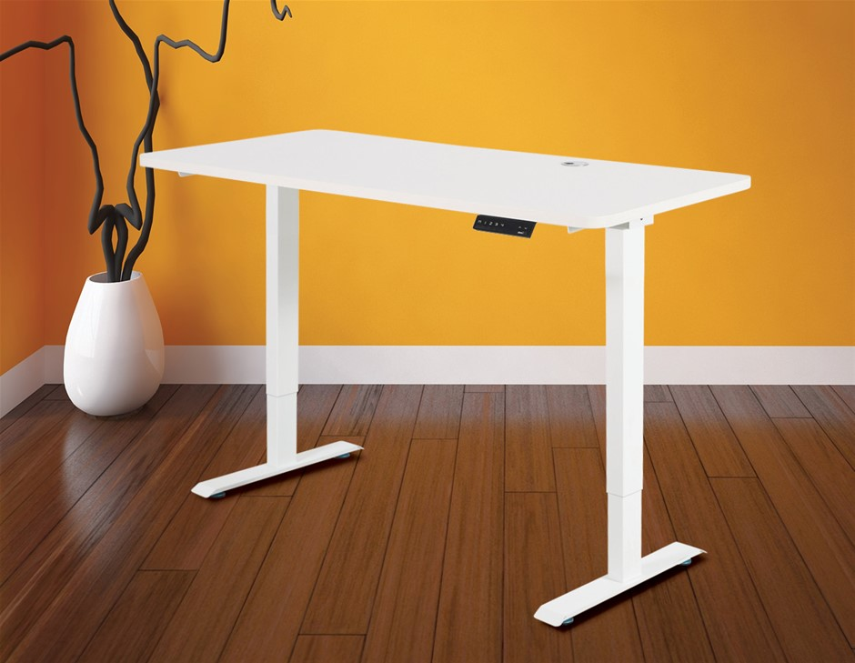 Palermo Standing Desk Sit Stand Height Adjustable Motorised 140cm Table