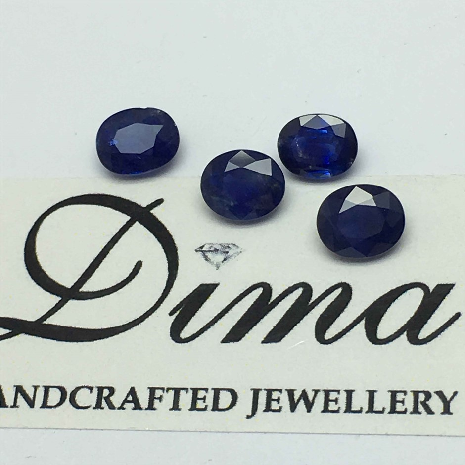 Four Loose Blue Sapphire, 12.40ct in Total