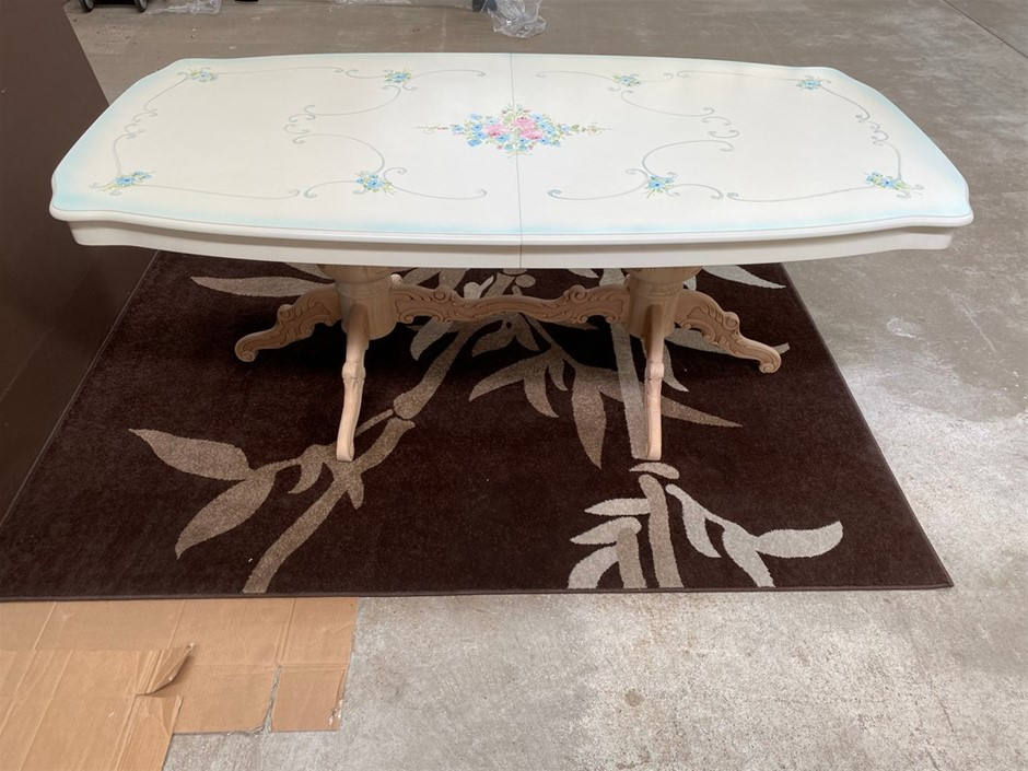 Made In Italy Hand painted Ivory Extension Table