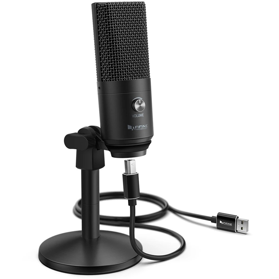 Fifine Technology USB Condenser Microphone - Black