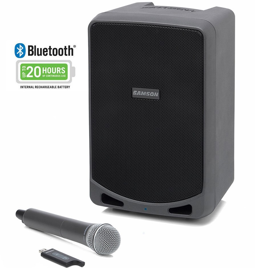 Samson Expedition XP106w PA/Amp BT 20hrs Wireless Speaker System & Mic