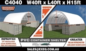 Unused 40ft & 20ft Container Shelters - Adelaide