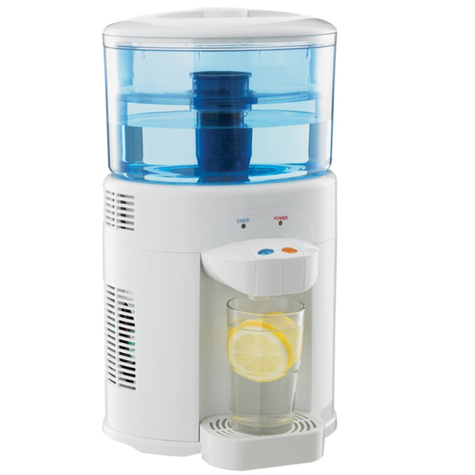Lenoxx 5L Bench Top Water Filter Dispenser Chiller Cooler Cooling Dual Tap
