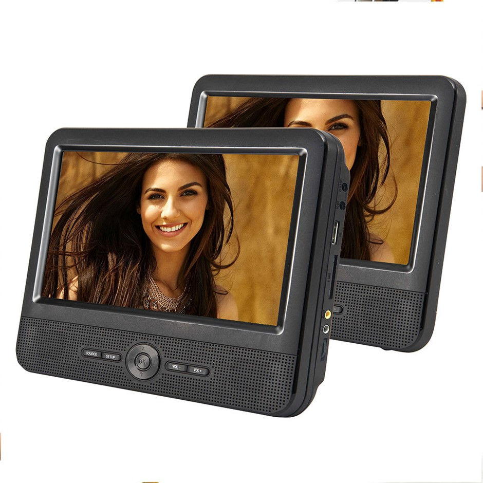 "Lenoxx Portable Dvd Player 9"" Dual LCD Screens Car Headrest Mount"