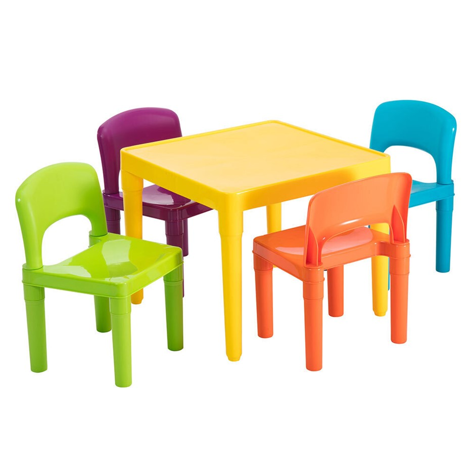 Delsun Kids Table & 4 Chairs Plastic Set