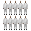 10pc Protective Dust/Paint Size L Polyester Overall/Coverall Suit