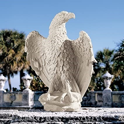 DESIGN TOSCANO America`s Eagle Statue, Antique stone finish, Design Toscano