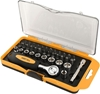 TOLSEN 38pc 1/4`` Bit Socket Set Complete in Plastic Storage Box. Buyers No