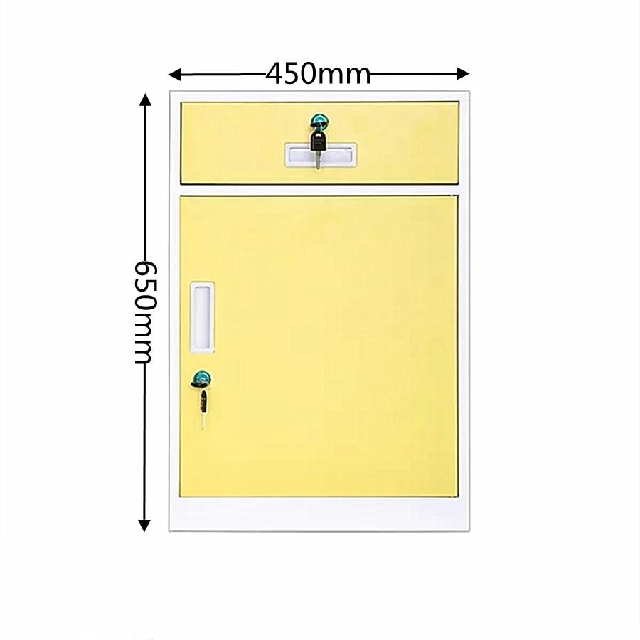 One Drawer One Door Pedestal