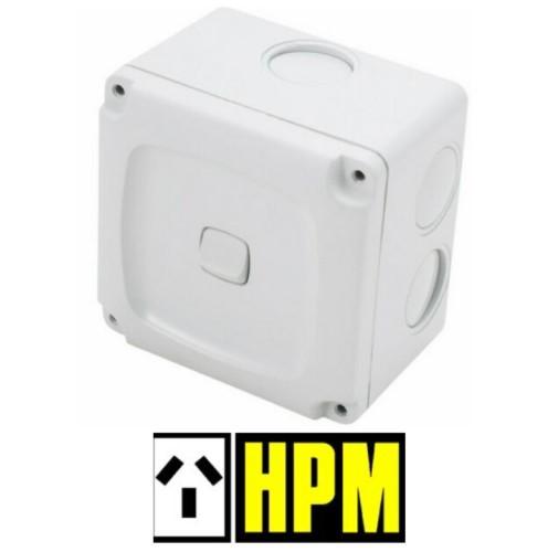 HPM AQUA Weatherproof Rocker Switch 1 Gang Single ON OFF 10A IP56 240V
