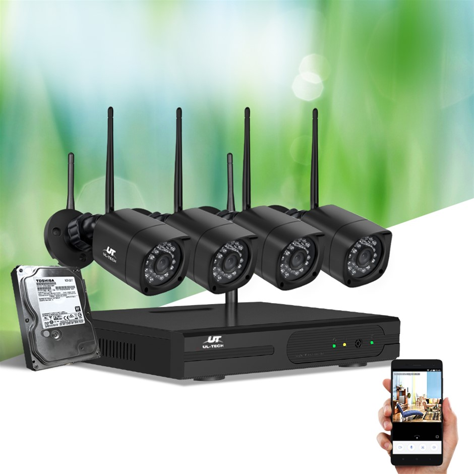 UL-tech CCTV Wireless Security Camera System 8CH Home Outdoor WIFI 4 Square