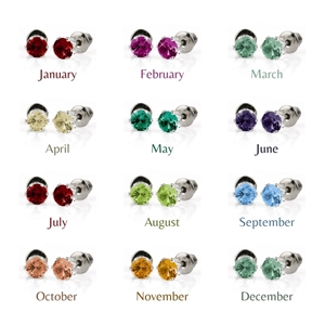 BULK PACK - 12 x Birthstone Coloured 5mm