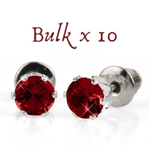BULK PACK - 10 x 5mm Birthstone Earrings (January) - Great, Christmas Idea