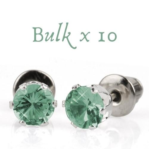 BULK PACK - 10 x 5mm Birthstone Earrings (March) - Great, Christmas Idea