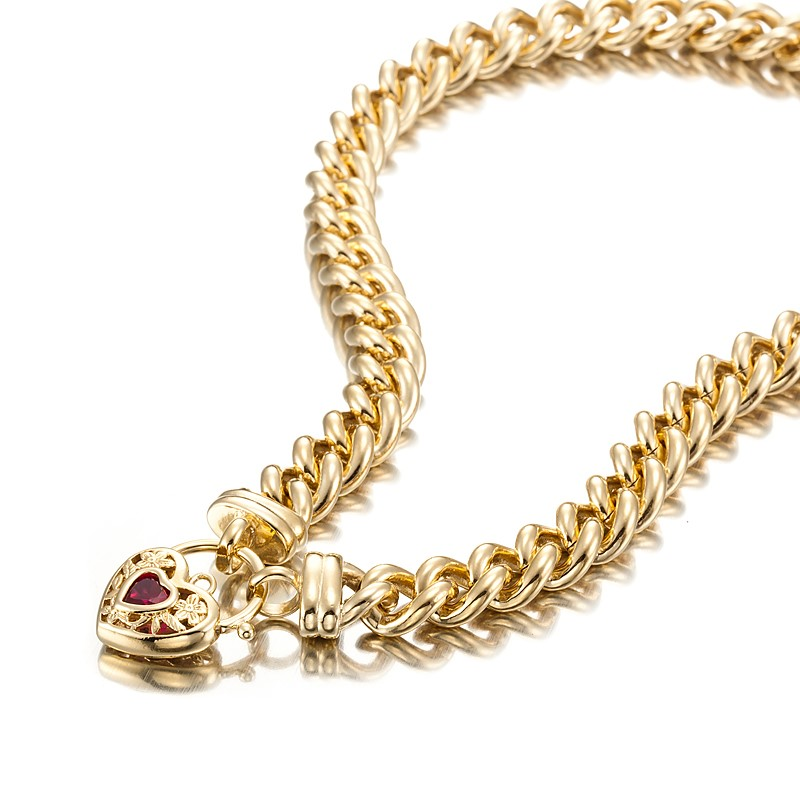 18ct Yellow Gold Layered Euro Chain Necklace with a Filigree Locket