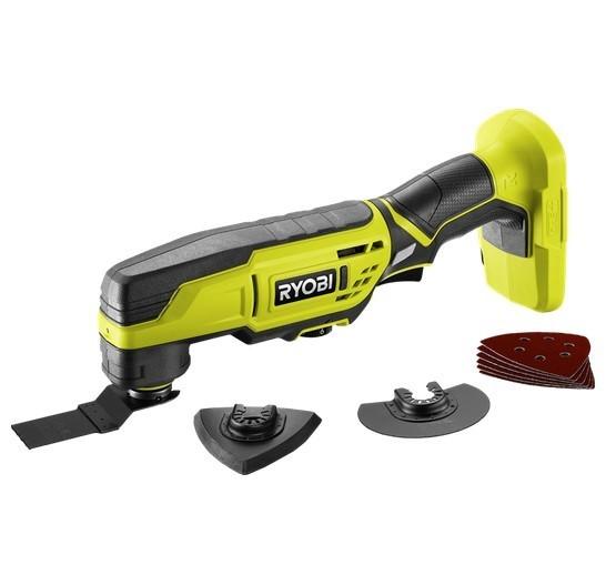 RYOBI 18V Multi Tool c/w Accessories. Skin Only. Buyers Note - Discount Fre