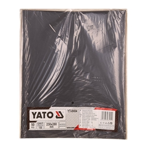 YATO 50 Sheets Waterproof Sand Paper Gri