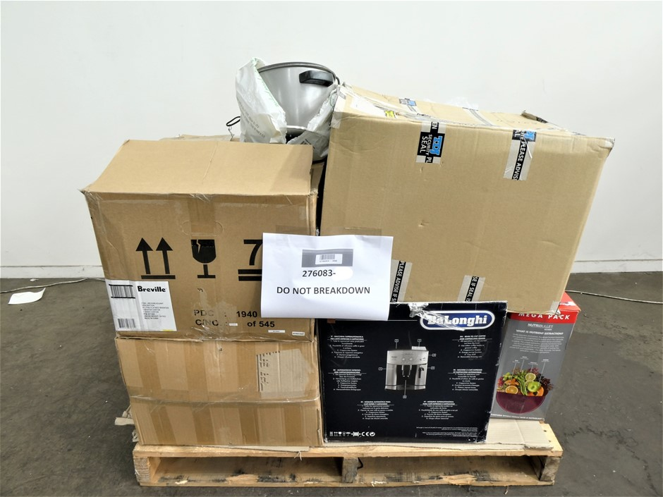 Pallet of Used & Untested Kitchen Appliances