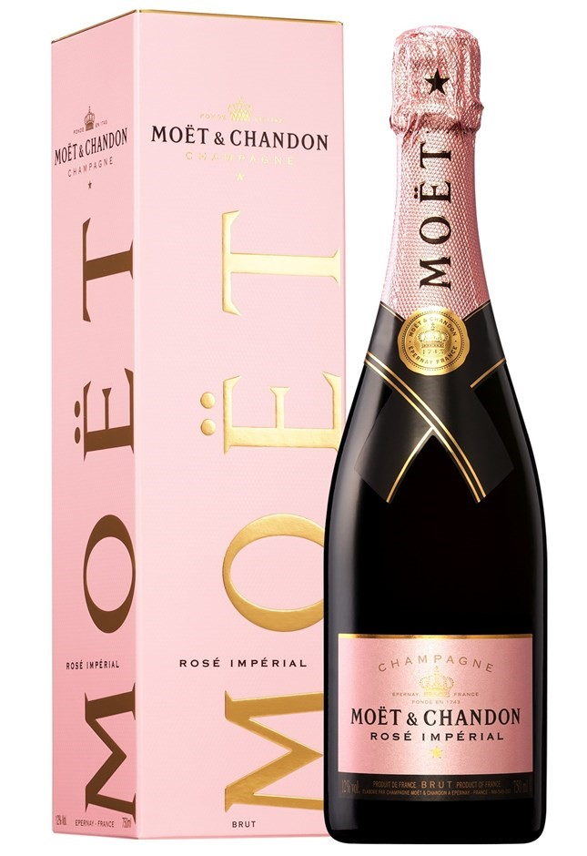Moët & Chandon Rosé `Impérial` NV (2x 750mL Giftboxed), Champagne, France.