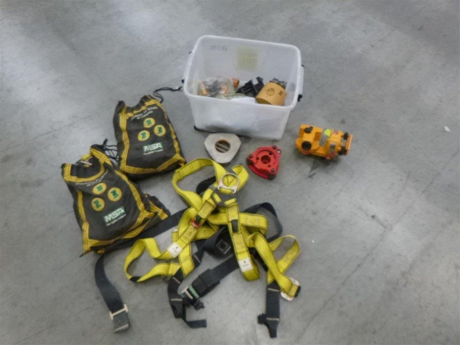 Box of Harnesses, Tripod Platform & Other Items
