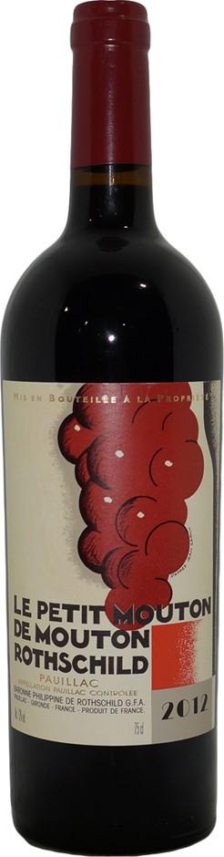 Le Petit Mouton De Mouton Rothschild Pauillac 2012 (1x 750mL), Bordeaux