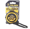 3 x TOLSEN Measuring Tapes 5M x 25mm, Nylon Coated Steel Tape with Magnetic