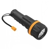 4 x TOLSEN 7-LED Torch Lights 20cm, Water Resistant & Shock- Proof, Takes 2