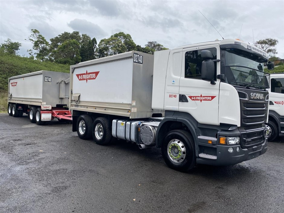 2017 Scania R620 6x4 & Muscat Quad Dog Tipper Combination
