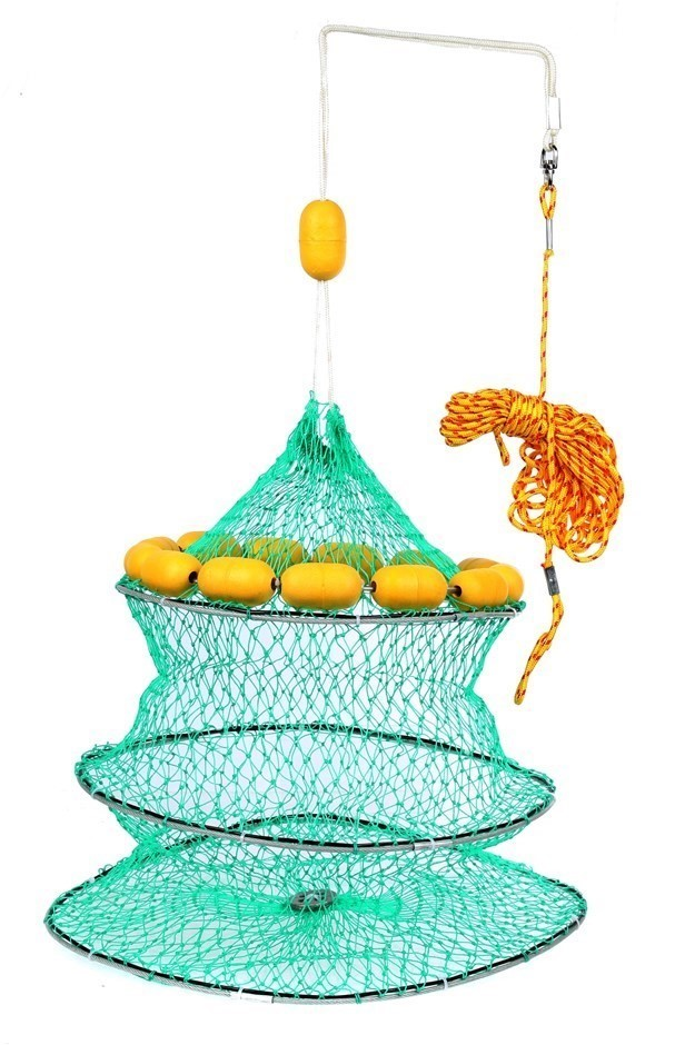 Fishing Trap 400mm x 500mm c/w Floats and Rope Line. Buyers Note - Discount
